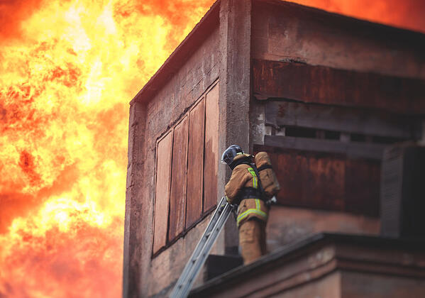 A fire following an explosion at a cannabis processor