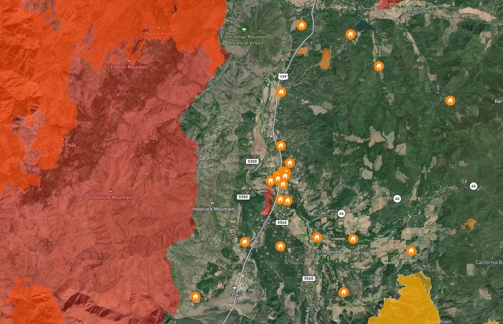 Southwest Oregon wildfire perimeters 2000 to 2020